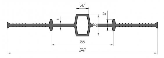 ГидроКонтур ЦД 240К20 (ПВХ-П) Центральная деформационная шпонка