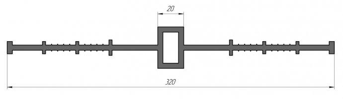 ГидроКонтур ЦД-320К20 (ПВХ-П) Центральная деформационная шпонка