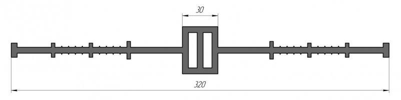 ГидроКонтур ЦД-320К40 (ПВХ-П) Центральная деформационная шпонка