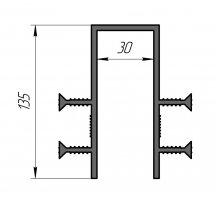 ГидроКонтур ПГ-30 (ПВХ-П) П-образная деформационная гидрошпонка