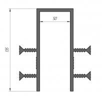 ГидроКонтур ПГ-50 (ПВХ-П) П-образная деформационная гидрошпонка