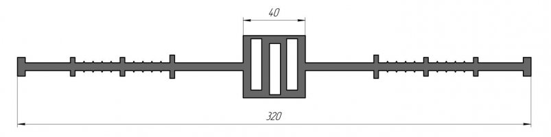 ГидроКонтур ЦД-320К30 (ПВХ-П) Центральная деформационная шпонка