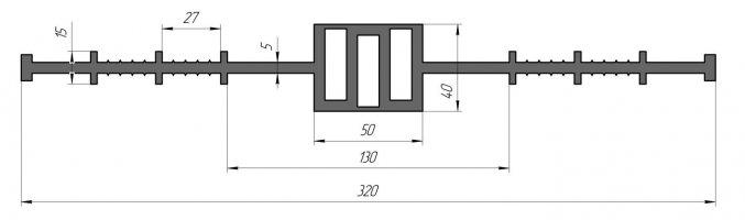 ГидроКонтур ЦД-320К50 (ПВХ-П) Центральная деформационная шпонка