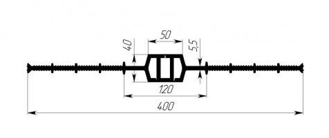 ГидроКонтур ЦД-400К50 (ПВХ-П) Центральная деформационная шпонка