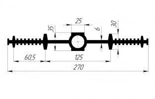 ГидроКонтур ЦДР-270К25 (ЭПДМ-резина) Центральная деформационная шпонка