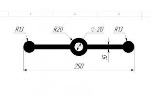 ГидроКонтур ЦДР-250/10 (ЭПДМ-резина) Центральная деформационная шпонка